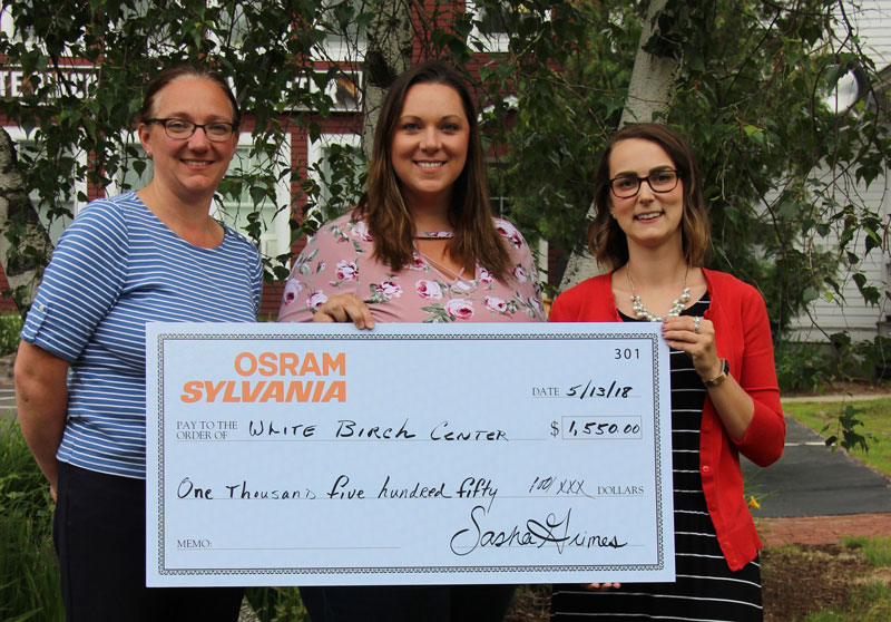 Osram Sylvania Presents Check to White Birch Center for Summer Camp STEM Project